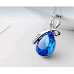 Mėlynas lašelis pakabukas