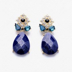 "Mėlyni auskarai moterims ""AU763"""