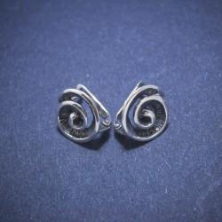 Sidabriniai auskarai Spiralės