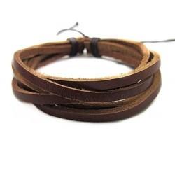 Apyrankė iš rudų odinių juostelių