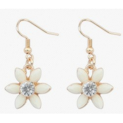"""Moteriški sidabriniai auskarai """"Gėlės žiedas"""""""